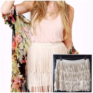 NWOT! Fun Flirty Fringe Skirt